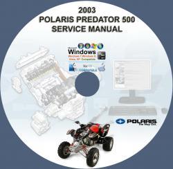 polaris predator 500 atv 2003 service repair manual on cd. Black Bedroom Furniture Sets. Home Design Ideas