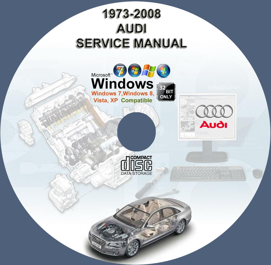 AUDI MODEL A3 A4 A6 A8 S4 TT SERVICE REPAIR MANUAL ON DVD