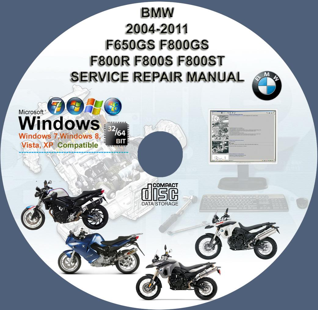 ... F650GS F800GS F800R F800S F800ST SERVICE REPAIR MANUAL ON DVD 2004