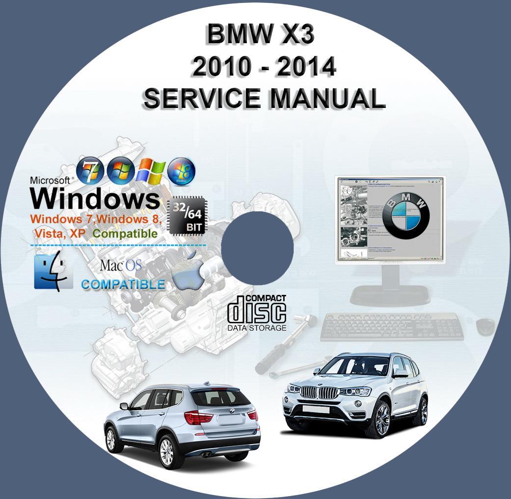 BMW 2010 2011 2012 2013 2014 X3 (F25) Factory Workshop