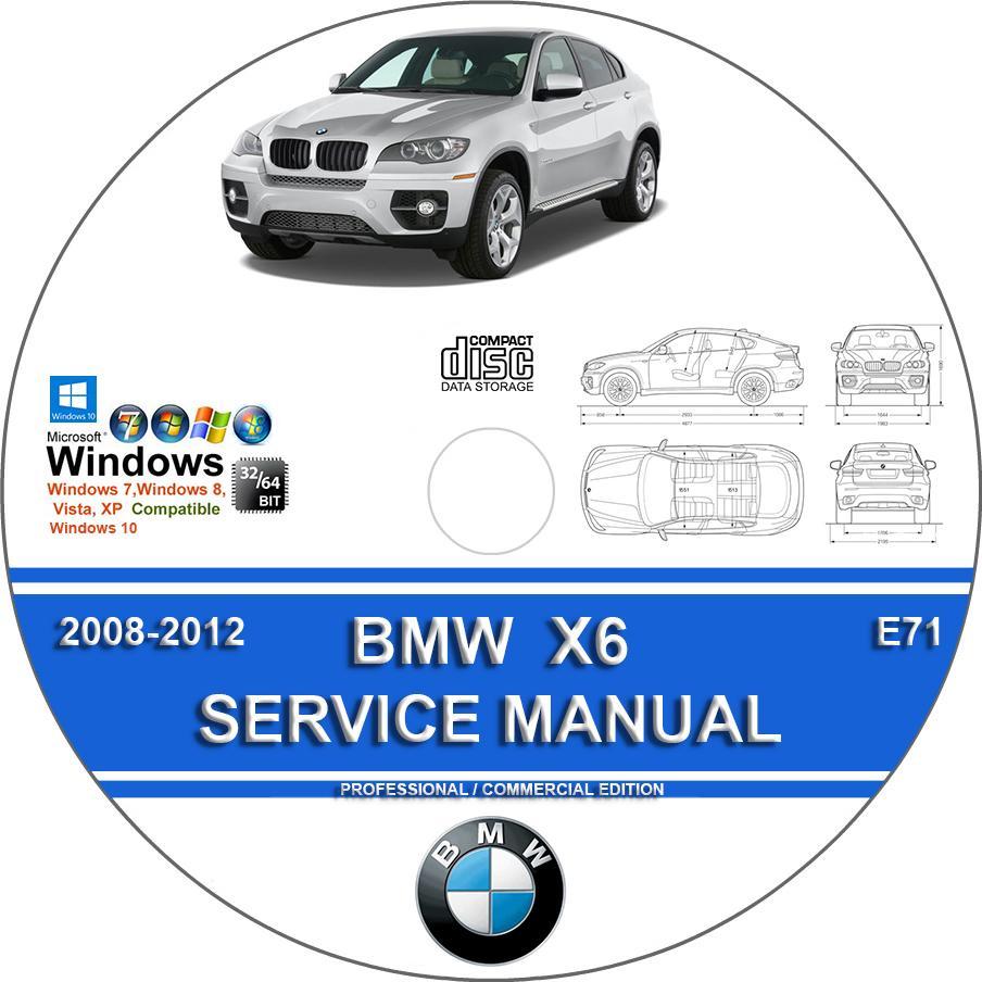 bmw x6 2008 2012 complete workshop service repair manual on cd. Black Bedroom Furniture Sets. Home Design Ideas