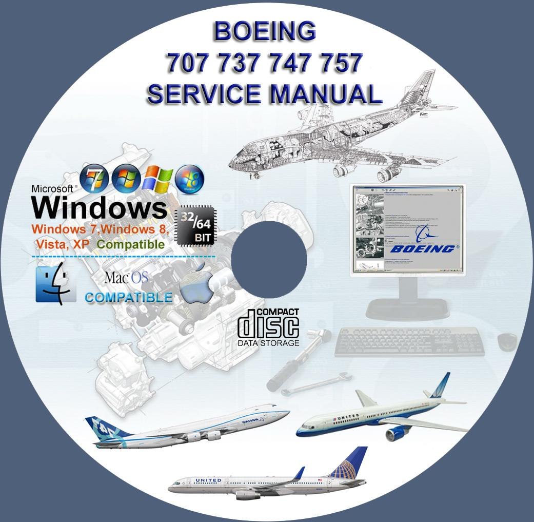 Boeing 707 737 747 757 Service Repair Technical Manual On