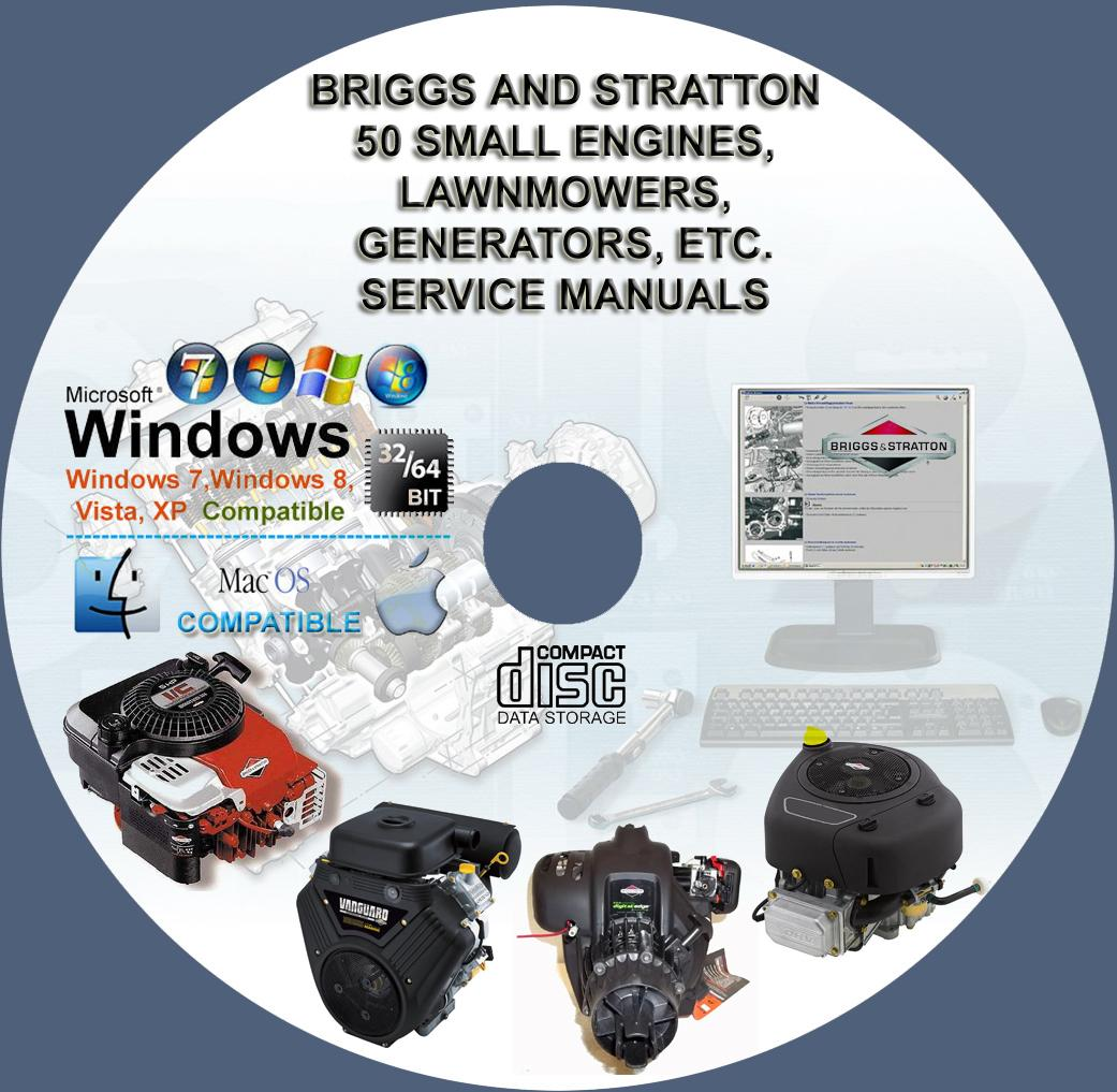 briggs and stratton more than 50 service and repair manuals on cd rh servicemanualforsale com Briggs & Stratton Engine Breakdown Briggs and Stratton Repair Manual