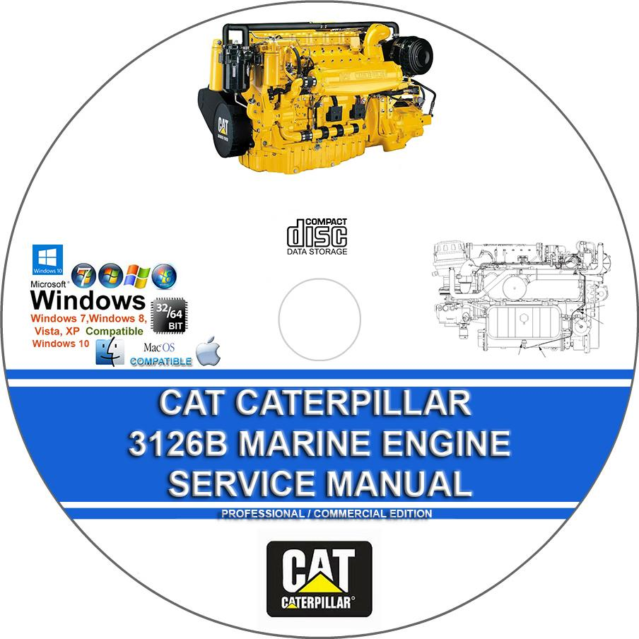 Cat Caterpillar 3126b Marine Engine Workshop Service