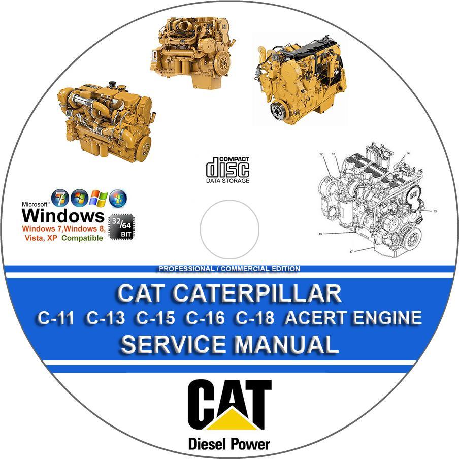 Cat Caterpillar C 11 13 15 16 18 Acert On Highway Engine C13 Diagram Service Repair Manual Cd