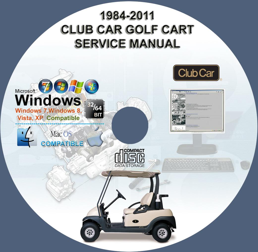 CLUB CAR GOLF CART SERVICE REPAIR MANUAL CD 1984-2011 GAS ...