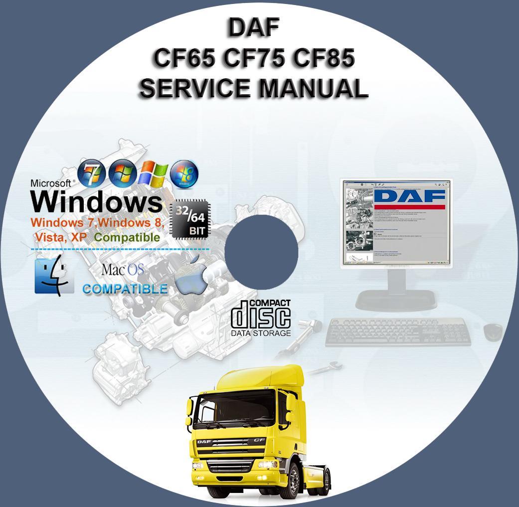 daf cf65 cf75 cf85 service repair manual on cd www rh servicemanualforsale com daf lf45 workshop manual daf 615 workshop manual