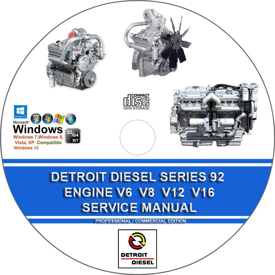 detroit diesel series 92 engines 6 8 12 16 cylinder service rh servicemanualforsale com Jaguar Engine Rebuilding Rebuild My Engine
