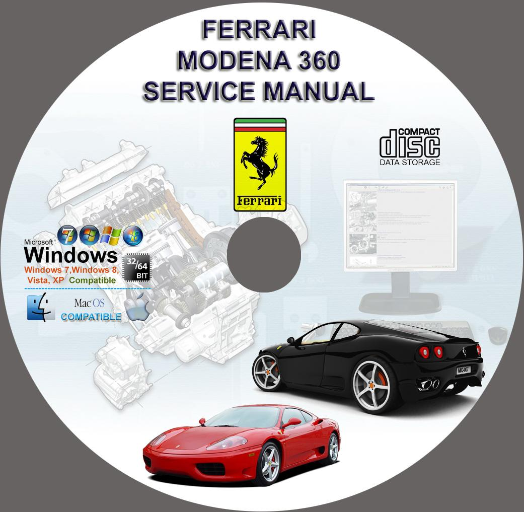Ferrari 360 Modena Workshop Service Repair Manual On Cd