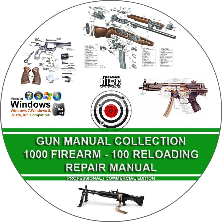 Gun Manual Collection 1000 Firearm 100 Reloading Service Repair Parts Diagram Further Kimber 1911 Exploded View Gsg Cd