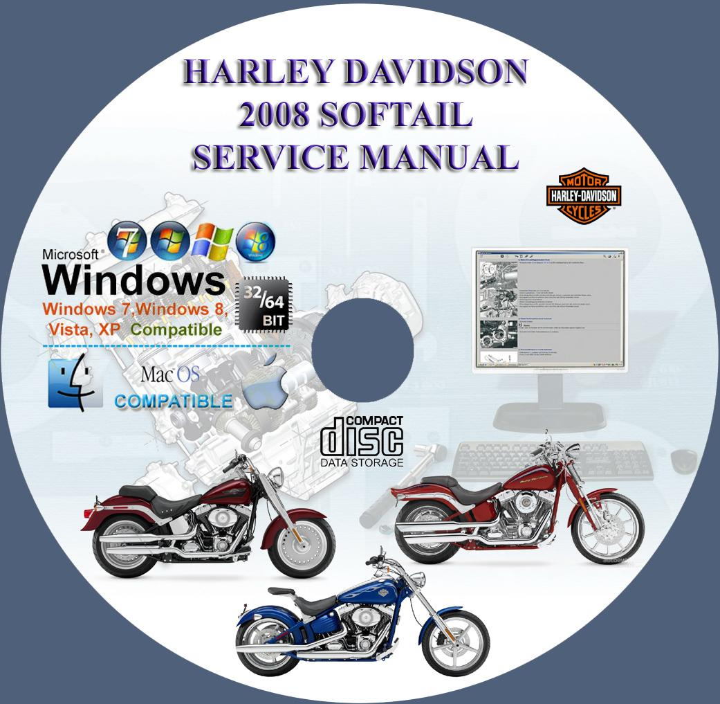 Harley Davidson Softail 2008 Service Repair Manual On Cd
