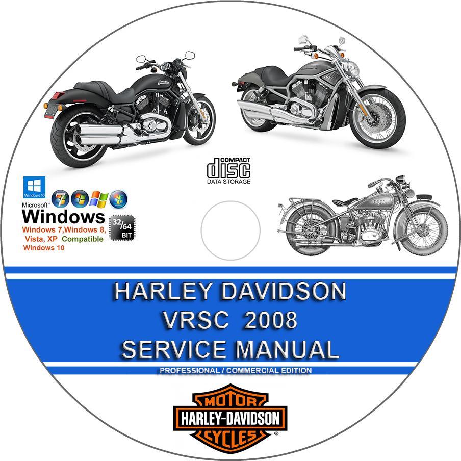 Harley Davidson Vrsc Models 2008 Service Repair Manual And Wiring Davidsoncar Diagram Diagrams On Cd