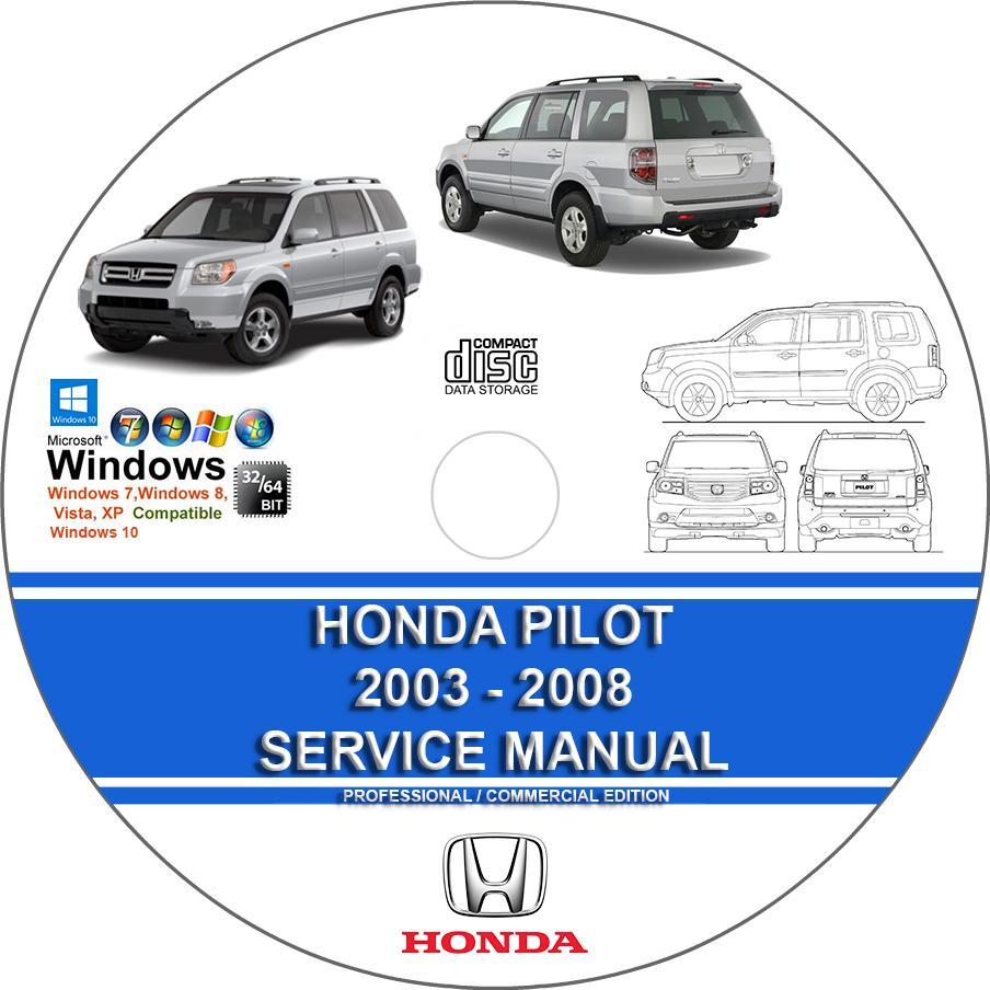 Honda Pilot 2003 2004 2005 2006 2007 2008 Service Workshop Manual Guide