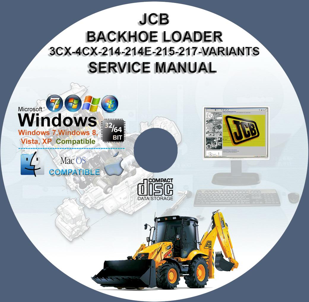 Jcb 3cx 4cx 214s 214 215 217 Backhoe Loader Service Repair Manual Cd Wiring Diagram