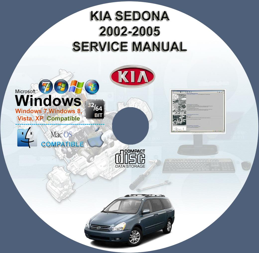 kia sedona 2002 2005 service repair manual on cd www rh servicemanualforsale com 2012 Kia Grand Carnival Kia Carnival 1996