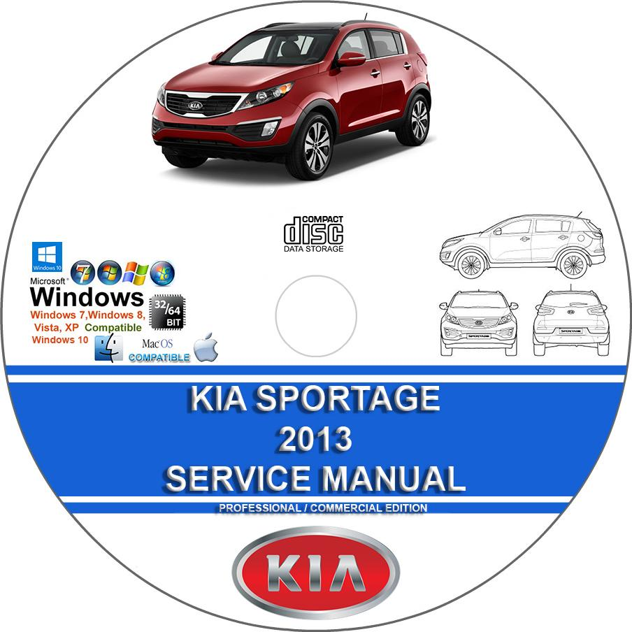 Kia Sportage 2013 Service Repair Manual On Dvd