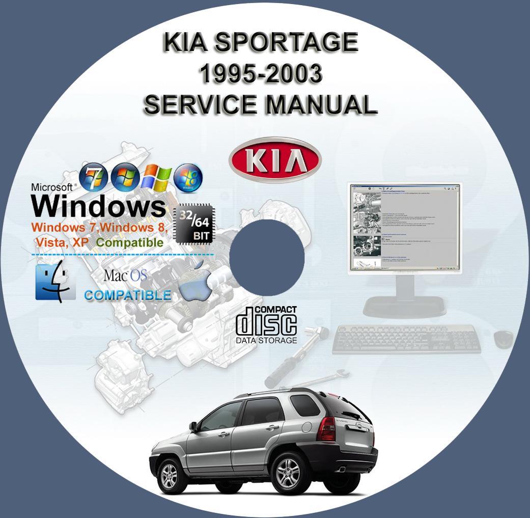 kia sportage 1995 2003 service repair manual on cd www rh servicemanualforsale com 1999 Kia Sportage 1995 Kia Sephia