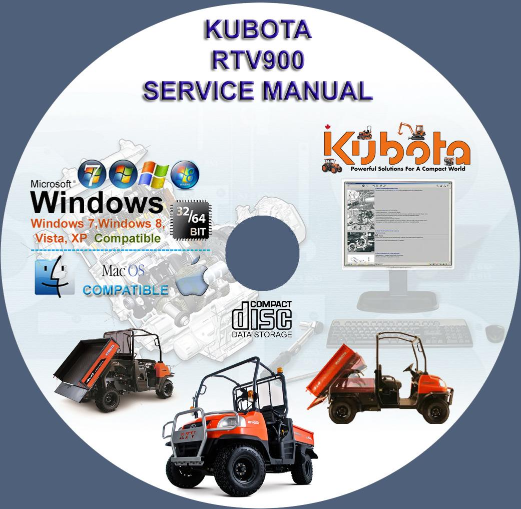 Kubota UTV RTV 900 Service Manual RTV900 on CD – Rtv 900 Wiring Diagram For