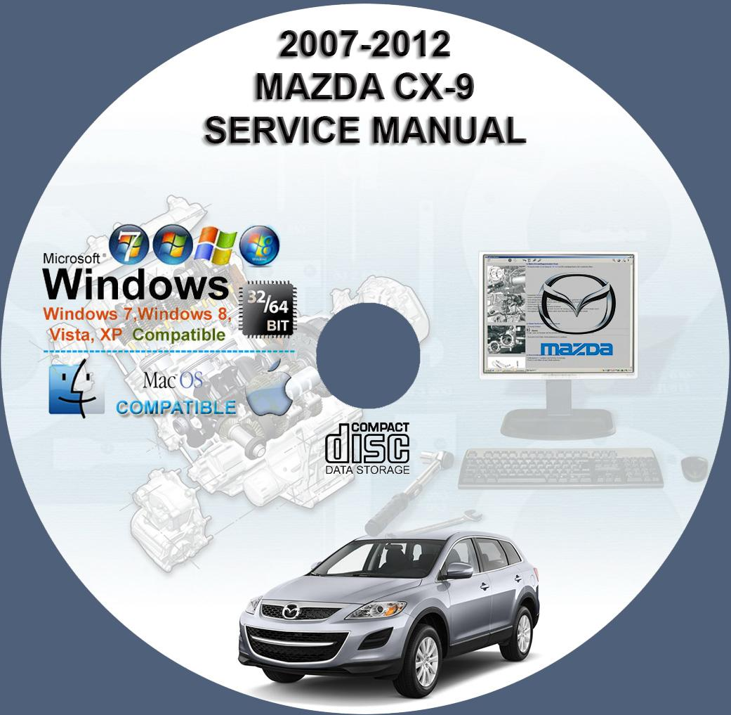 mazda cx 9 service repair manual on dvd 2007 2012 owner. Black Bedroom Furniture Sets. Home Design Ideas