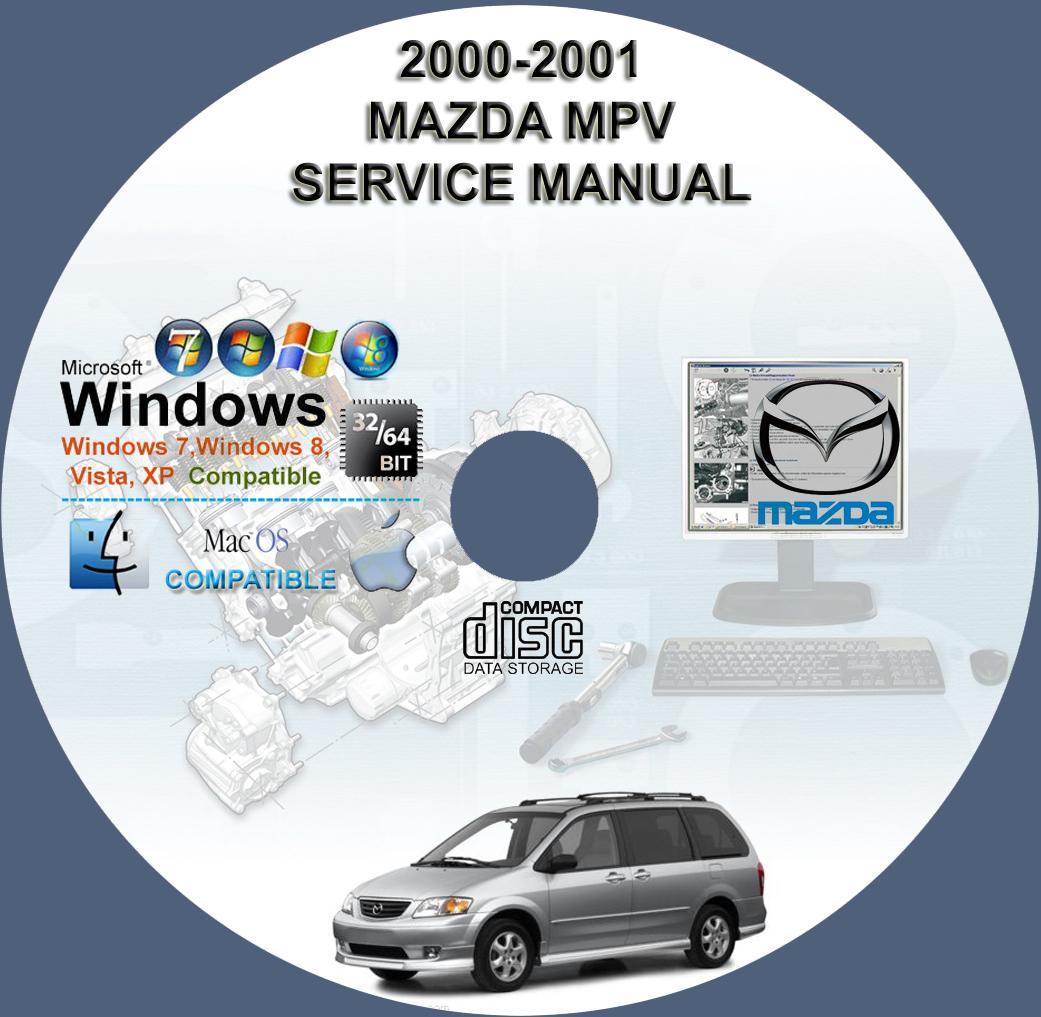 mazda mpv 2000 2001 service repair manual on cd www rh servicemanualforsale  com 2000 mazda mpv