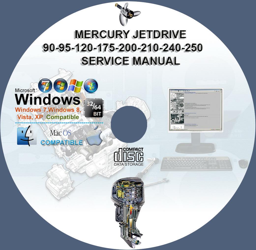 Mercury Jetdrive 90 95 120 175 200 210 240 250 Service
