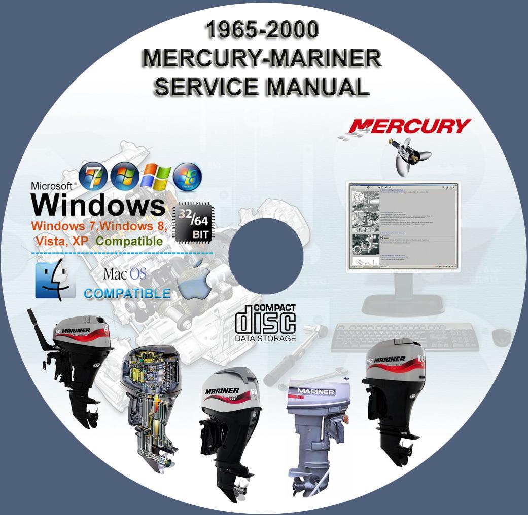 Mercury Mariner Outboard 1965 2000 All Models Service border=