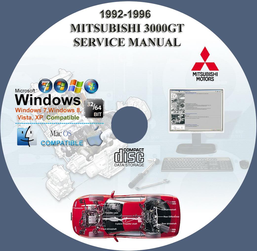 mitsubishi 3000gt 1992 1996 service repair manual on cd 92 93 94 95 96 www Dodge 3000GT 1993 Mitsubishi 3000GT