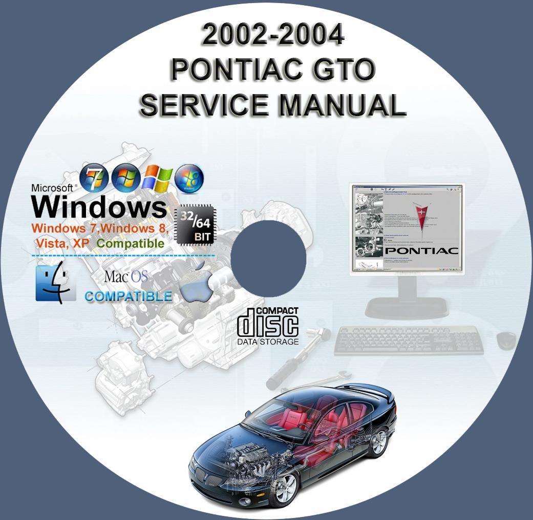 pontiac gto 2004 2006 service repair manual on cd 04 05 06 rh servicemanualforsale com 2006 gto owners manual pdf 2006 gto service manual pdf