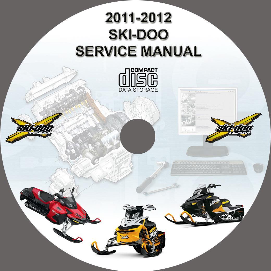 ski-doo snowmobile 2011 2012 service repair manual on cd
