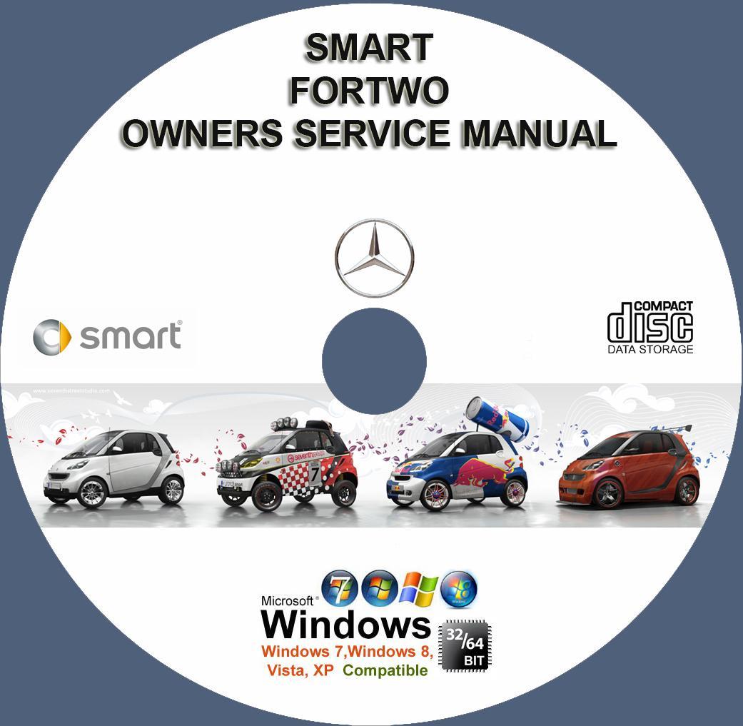 mercedes smart fortwo owner service manual cd 2005 2009 www rh servicemanualforsale com 2005 smart fortwo owners manual Smart Car Manual Transmission