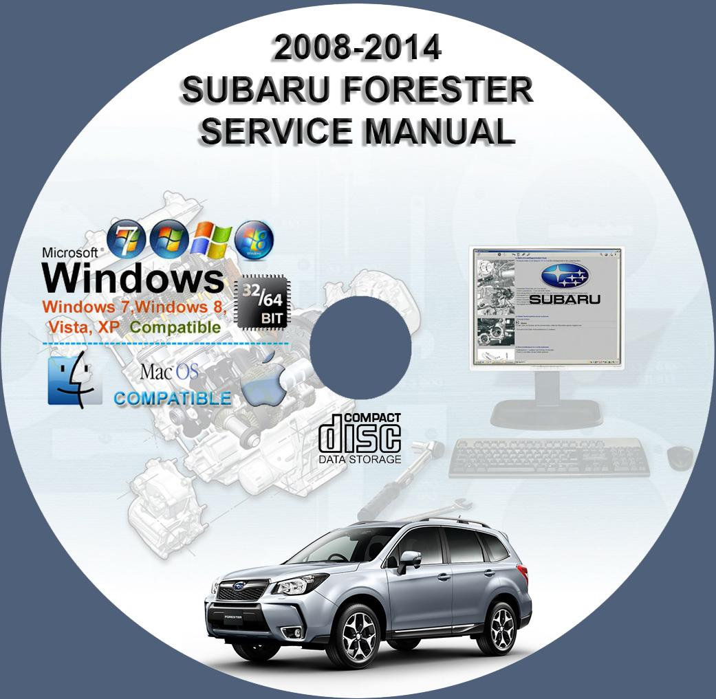 subaru forester 2008 2012 2014 service repair manual on cd www rh servicemanualforsale com 2014 Subaru Forester Manual 2017 Subaru Forester Idiot Lights