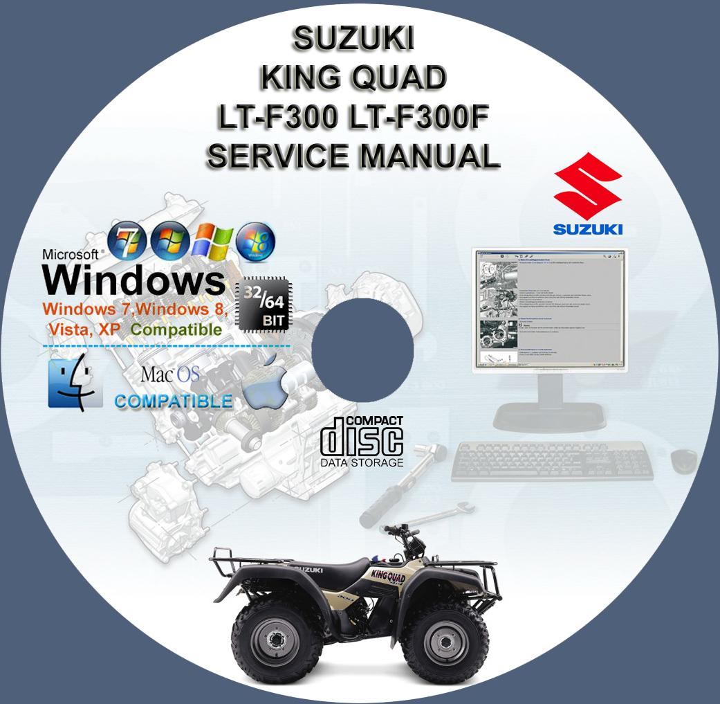 suzuki king quad 300 lt-f300 ltf300 lt-f300f service repair manual