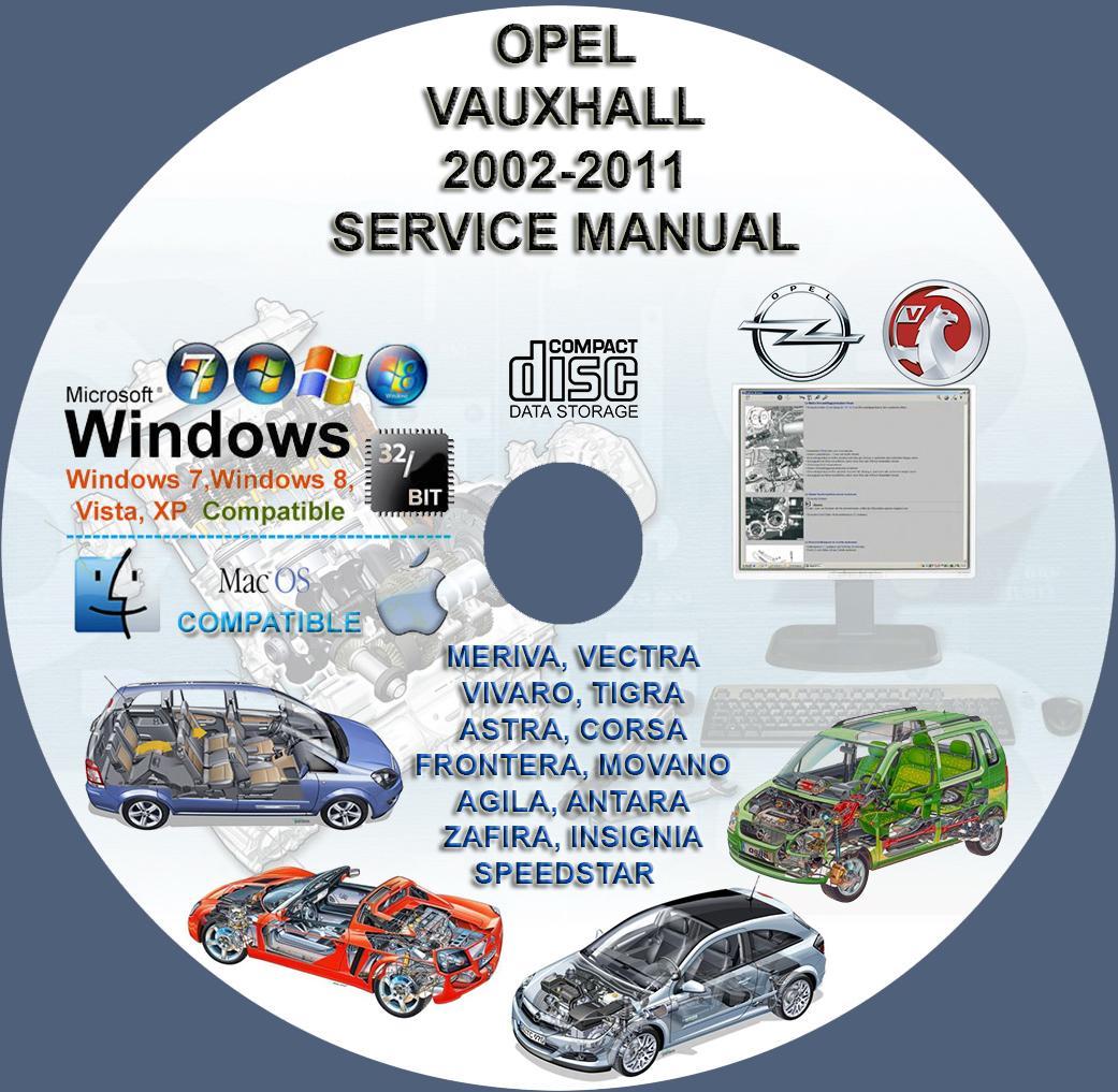 vauxhall opel 2002 2011 service repair manual dvd meriva vectra rh servicemanualforsale com opel insignia repair manual Justy Service Repair Manual