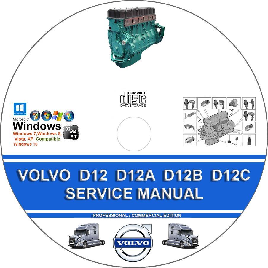 Volvo Truck D12 D12a D12b D12c Engine Service Repair