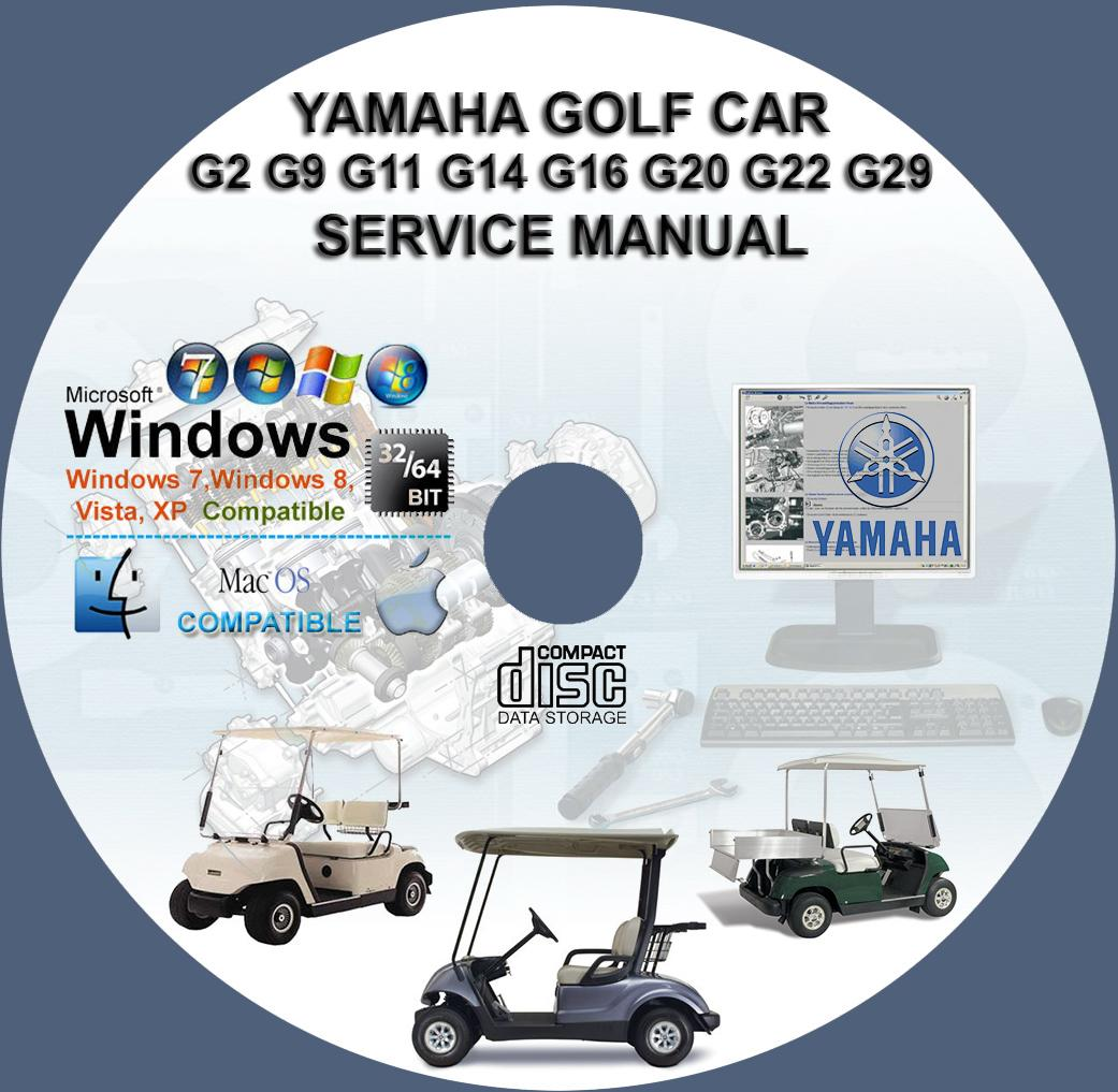 Yamaha Golf Car G2 G9 G11 G14 G16 G19 G20 G22 G29ydr Service Repair Wiring Diagram 1995 Cart Manual Cd Bonus Part Catalogue